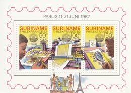 1982 Surinam Philexfrance Souvenir Sheet MNH - Surinam