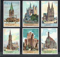 LIEBIG  - NL -  6 Chromos N° 7 à 12-  Reeks/série S.1289 - Domkerken In Duitschland - Cathédrales D'Allemagne. - Liebig