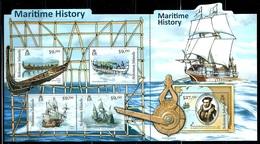 "Solomon Islands      ""Maritime History""     Sheet Of 5   SC# 1170   MNH - Solomon Islands (1978-...)"
