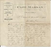 SAINT ETIENNE CAFE MARSAN CASSE CROUTE SIEGE SOCIAL DE LA BOULE DE ST BARBE ANNEE 1914 - Non Classés