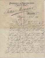 ANGERS FETIS MONNIER FABRIQUE DE CHAUSSURES ANNEE 1898 - Non Classés