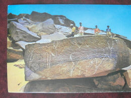 CP TAGHIT ALGERIE GRAVURES RUPESTRES ROCK DRAWING 1962 - Andere Städte