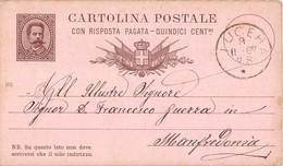 7242 01 LUCERA X MANFREDONIA 1887 - Ganzsachen