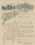 LYON CAFE RICHE GIRAUD BLAIN SERVICE POSTAL DEPECHES HAVAS ANNEE 1904 - Non Classés