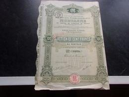 Anciens établissements MORTAGNE (capital 2 Millions) 1921 - Shareholdings