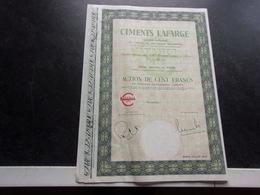 CIMENTS LAFARGE (1973) - Shareholdings