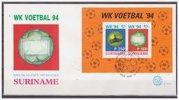 Surinam / Suriname 1994 FDC 174a Voetbal Soccer Fussball Footbal S/S - Surinam