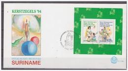 Surinam / Suriname 1994 FDC 179a Kerstmis Christmas Weihnachten Noel S/S - Suriname