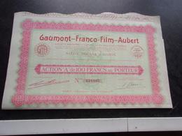 GAUMONT FRANCO FILM AUBERT (1930) - Shareholdings