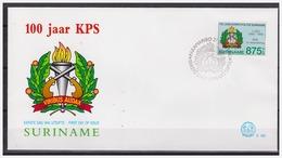 Surinam / Suriname 1995 FDC 183 100 Jaar Politie 100 Year Police 100 Jahre Polizei - Surinam