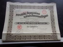 Société Française Cinéchromatique (1929) - Actions & Titres