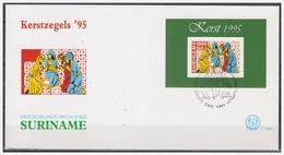 Surinam / Suriname 1995 FDC 188a Kerstmis Christmas Weihnachten Noel S/S - Surinam