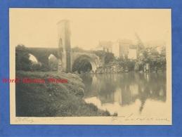 Photo Ancienne Signée Du Photographe Fernand Levavasseur ( 1875 1957 ) - ORTHEZ - Le Pont - Pyrénées Atlantiques - Places