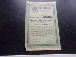 LA DISTILLERIE FRANCAISE (1921) - Actions & Titres