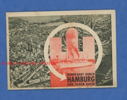 Livret Touristique - Rundfahrt Durch HAMBURG Und Seinen Hafen - Vers 1930 1940 ? - Autocar Bateau Autobus Boat - Dépliants Turistici