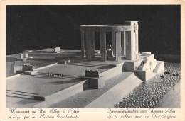 CPM - Monument Au Roi Albert à L'Yser, à ériger Par Les Anciens Combattants (Maquette) - Nieuwpoort