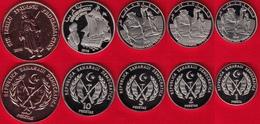 Western Sahara Set Of 5 Coins: 1 - 25 Pesetas 2018 UNC - Sahara Occidental