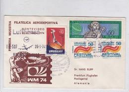 SPC. 10 ANIVERSARIO LUFTHANSA VUELO AMERICA DEL SUR. PRIMERA MUESTRA FILATELICA AERODEPORTIVA MONTEVIDEO.-TBE-BLEUP - Uruguay