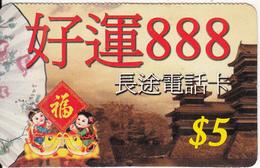 CANADA - China, Phonetime Prepaid Card $5, Used - Canada