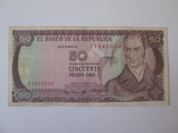 Colombia 50 Pesos Oro 1985 Banknote - Colombia
