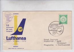 FIRST FLIGHT 15°ANIVERSARIO REANUDACION VUELOS URUGUAY ALEMANIA LUFTHANSA-TBE-BLEUP - Uruguay
