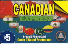 CANADA - Canadian Express, TCI Prepaid Card $5, Used - Canada