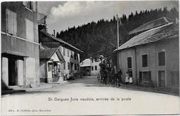 CPA Suisse Helvétia Schweiz Svizzera Non Circulé Arrivée De La Poste Saint Cergues Jura Vaudois - VD Vaud