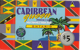 CANADA - Caribbean Queen, Ontario, MGT Prepaid Card $5, Used - Canada
