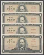 1986-BK-134 CUBA 1986 1$ UNC 4 CONSECUTIVE. JOSE MARTI. - Cuba