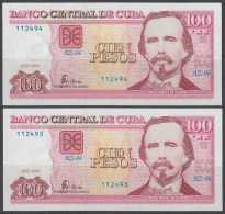 2008-BK-151 CUBA 2008 100$ UNC REPLACEMENT 2 CONSECUTIVE. AZ REEMPLAZO. - Cuba