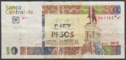 2013-BK-67 CUBA 2013 10$ Cuc MAXIMO GOMEZ FORGERY-FALSO WITH WATERMARK 1$. - Cuba