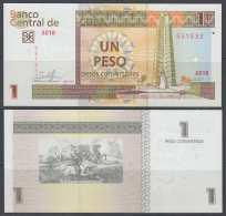 2017-BK-1 CUBA 2017 1$ Cuc UNC JOSE MARTI. - Cuba