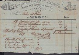 E5700 CUBA ESPAÑA SPAIN. COLONIAL ILLUSTRATED INVOICE 1859. HOJALATERIA HARDWARE. - Historical Documents