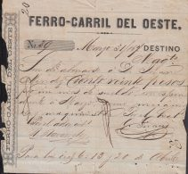 E5701 CUBA ESPAÑA SPAIN. COLONIAL ILLUSTRATED INVOICE 1867. WEST RAILROAD . - Documentos Históricos