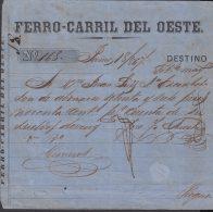 E5702 CUBA ESPAÑA SPAIN. COLONIAL ILLUSTRATED INVOICE 1867. WEST RAILROAD . - Historical Documents