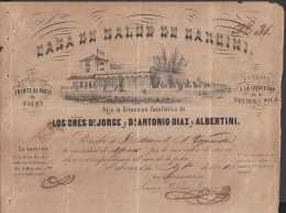 E5707 CUBA ESPAÑA SPAIN. COLONIAL ILLUSTRATED INVOICE 1862. MEDICINE HOSPITAL GARCINI. CASA DE SALUD . - Documentos Históricos