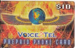CANADA - Voice2Tel Prepaid Card $10, Used - Canada
