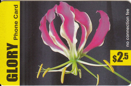 CANADA - Flower, Glory Prepaid Card $2.5, Exp.date 01/01/07, Used - Canada