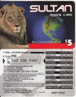 CANADA - Lion, Sultan Prepaid Card $5, Used - Canada