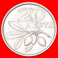 √ PHOENIX AND OLIVES: GREECE ★ 20 LEPTA 1973! MINT LUSTER!  LOW START ★ NO RESERVE! - Griekenland