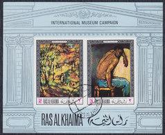UAE - Ras Al-Khaimah Art, Block, Used (o) - Ras Al-Khaima