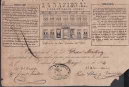 E5726 CUBA ESPAÑA SPAIN. COLONIAL ILLUSTRATED INVOICE 1864. MEDICINE HOSPITAL LA NACIONAL. CASA DE SALUD . - Documentos Históricos