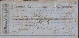 E5734 CUBA ESPAÑA SPAIN. COLONIAL EXCHANGE LETTER INVOICE 1870. NORIEGA OLMO Y Ca. - Documentos Históricos