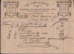 E5738 CUBA ESPAÑA SPAIN. COLONIAL ILLUSTRATED INVOICE 1894. PERFUM PERFUMERIA. - Documentos Históricos