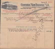 E5743 CUBA ESPAÑA SPAIN. COMPAÑIA DE RON BACARDI 1947 + REVENUE TIMBRE NAC. - Documentos Históricos