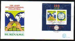 Surinam / Suriname 1995 FDC 180a 100 Year Volleybal Volleyball - Surinam