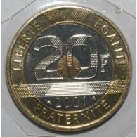 GADOURY 871 - 20 FRANCS 2001 TYPE MONT SAINT MICHEL - FDC - KM 1008.2 - France