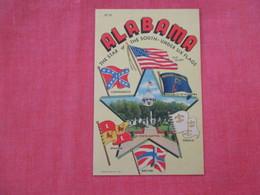 - Alabama  Under Six Flags Confederate Lag   =ref 2933 - United States