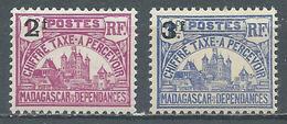Madagascar Timbres-taxe YT N°18-19 Palais Royal De Tananarive Neuf/charnière * - Madagascar (1889-1960)