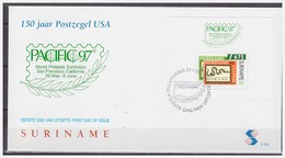 Surinam / Suriname 1997 FDC 206 PACIFIC 97 200 Year Independance USA S/S - Surinam
